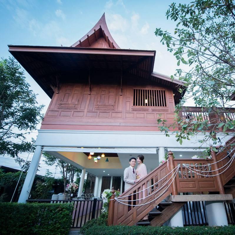 บ้านมหาสวัสดิ์ สถานที่จัดงานเลี้ยง บ้านเรือนไทยริมน้ำ จัดงานแต่งงาน