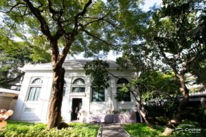 ห้องสมุด Neilson Hays งานแต่งงานในสวน
